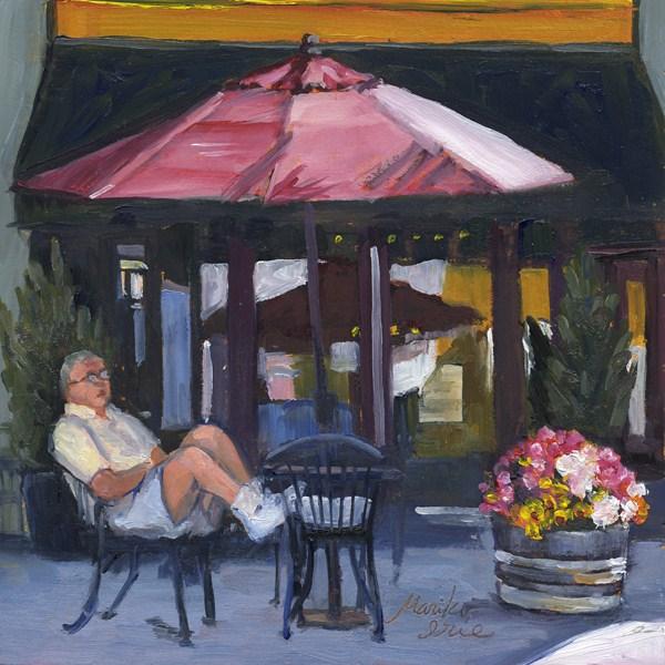 A day in Sunny Little Italy original fine art by Mariko Irie