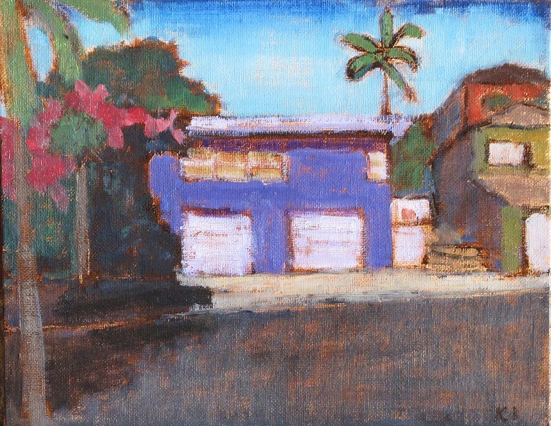 """Purple House in Hillcrest"" original fine art by Kevin Inman"