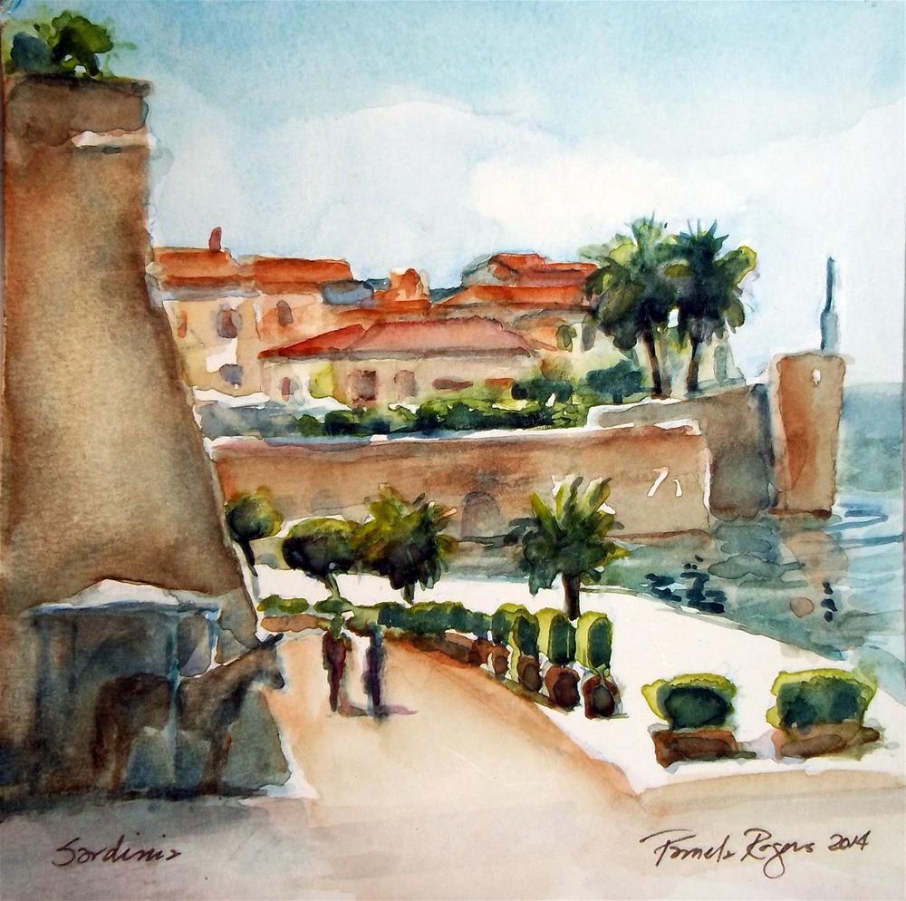 """Strolling in Sardinia"" original fine art by Pamela Jane Rogers"