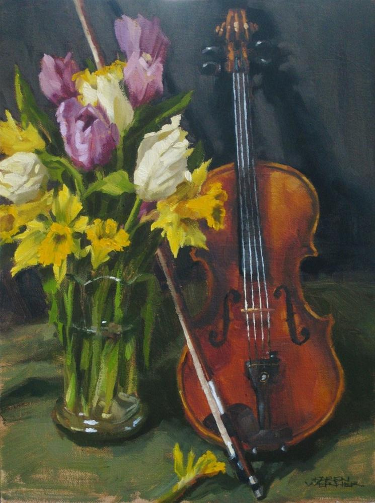 """Spring Music"" original fine art by Karen Werner"