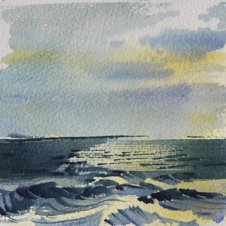 """sea"" original fine art by Beata Musial-Tomaszewska"