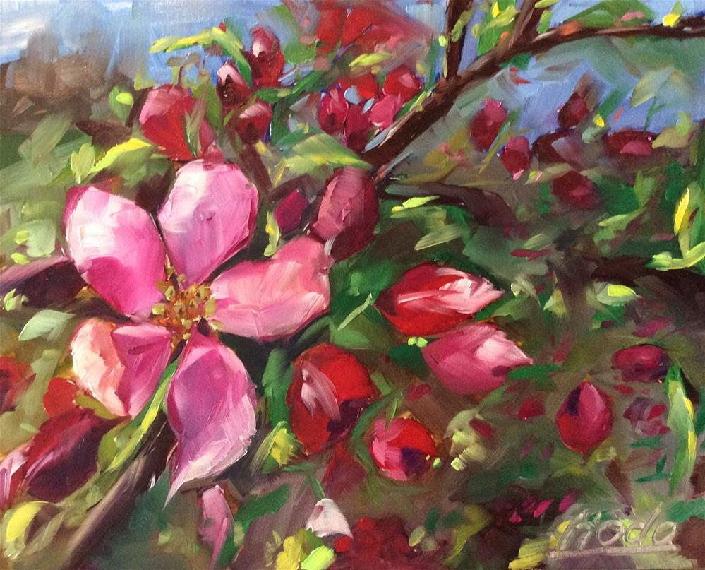 """Blossoms"" original fine art by Hoda Nicholas"