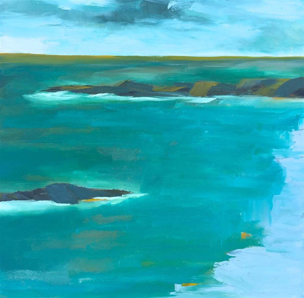 """Tropics"" original fine art by Janet Bludau"