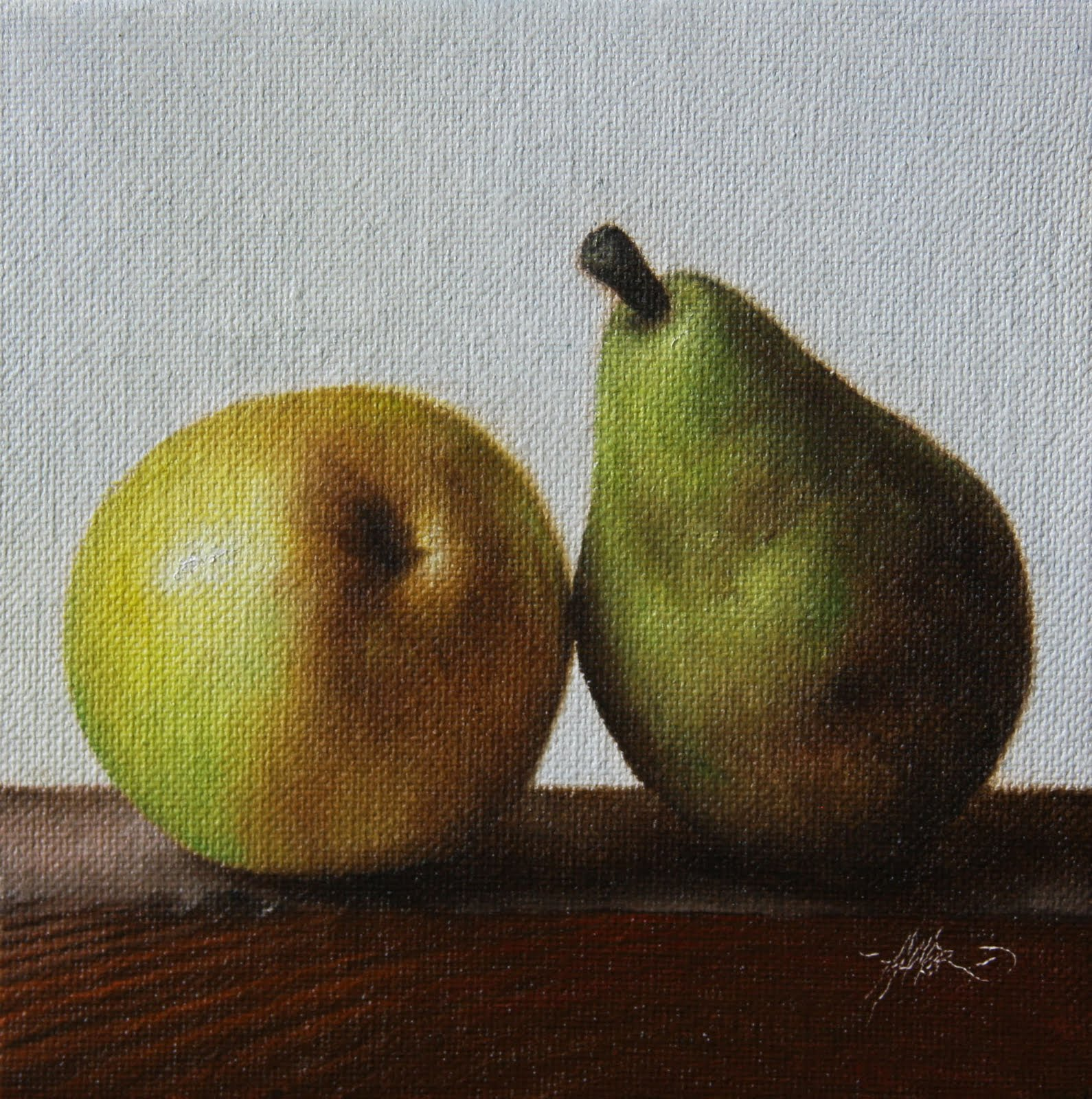 """'Reversed Pear"" original fine art by Jonathan Aller"