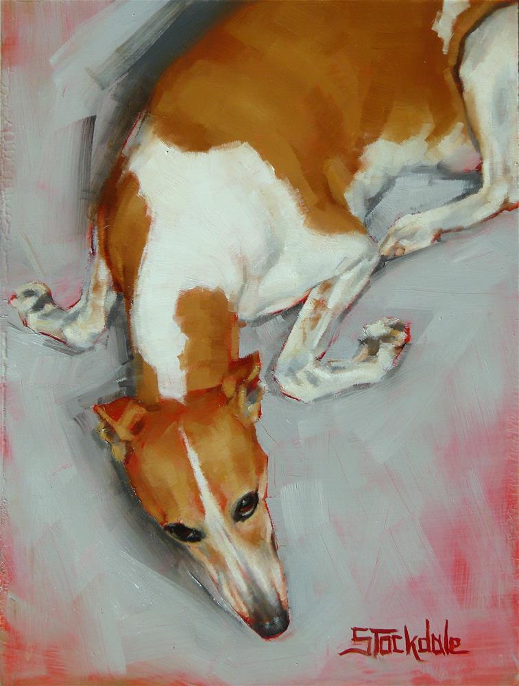 """""""Chloe The Whippet"""" original fine art by Margaret Stockdale"""