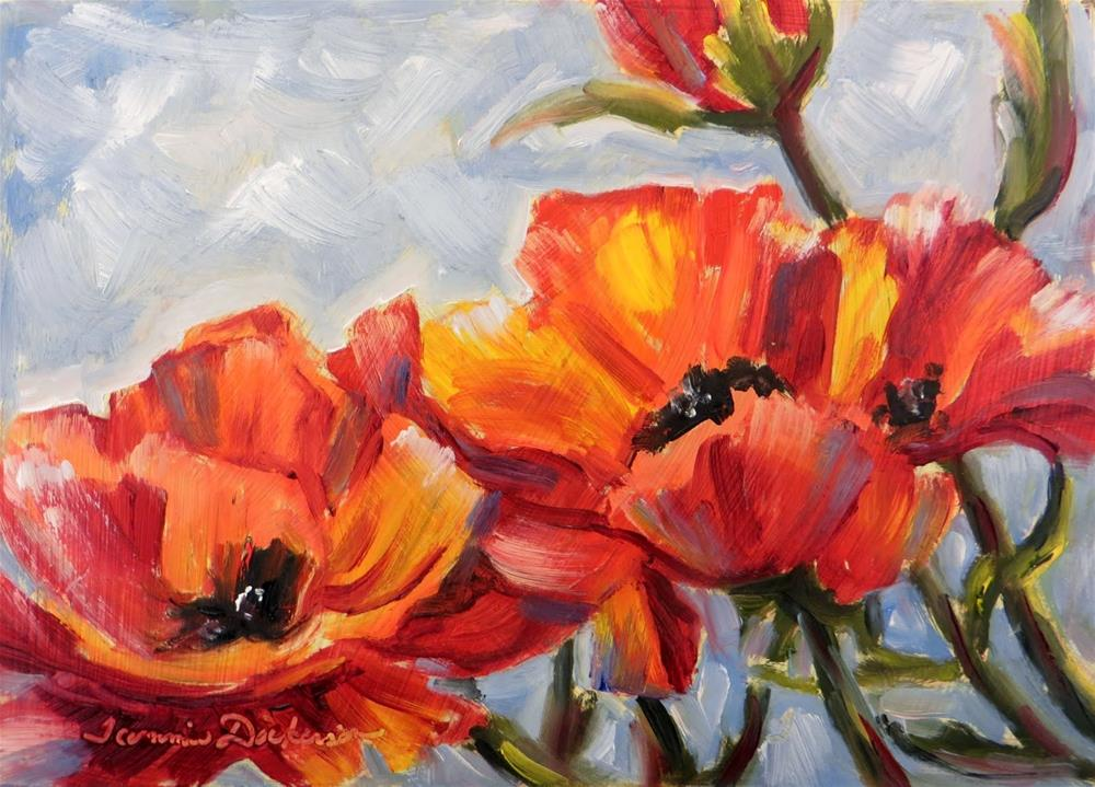 """A Passion for Poppies"" original fine art by Tammie Dickerson"