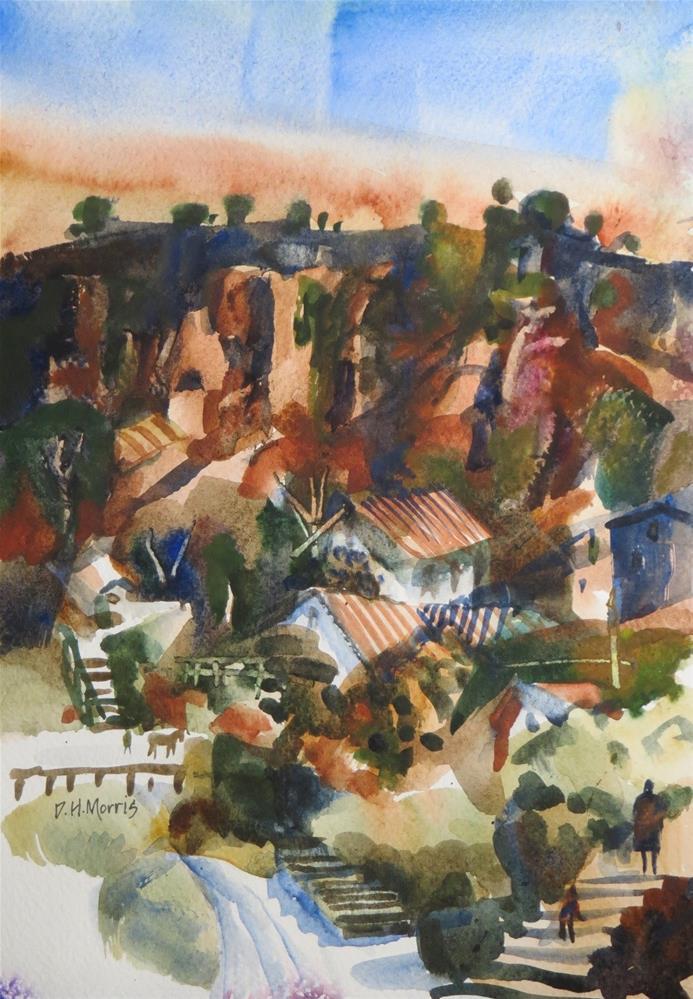 """Below the Canyon's Rim"" original fine art by Dann Morris"