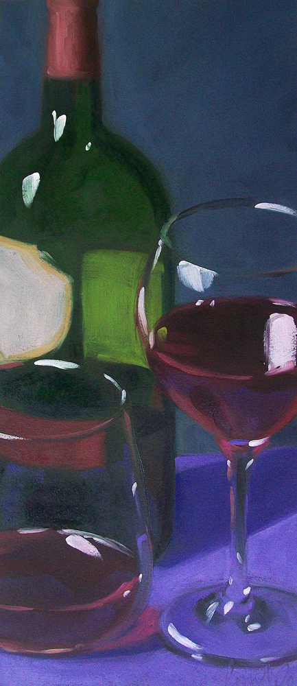 """wino13"" original fine art by Brandi Bowman"