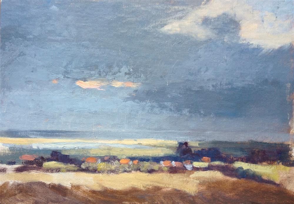 """Cloud Shadow over Brancaster"" original fine art by Mo Teeuw"