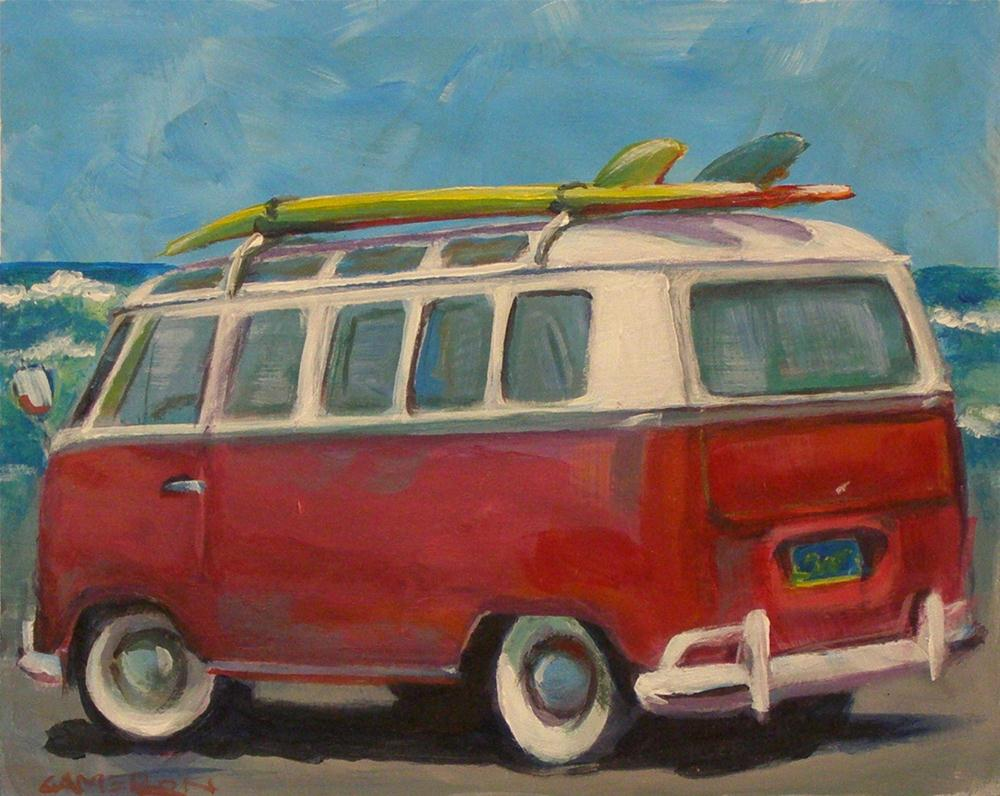 """SURF'S UP"" original fine art by Brian Cameron"