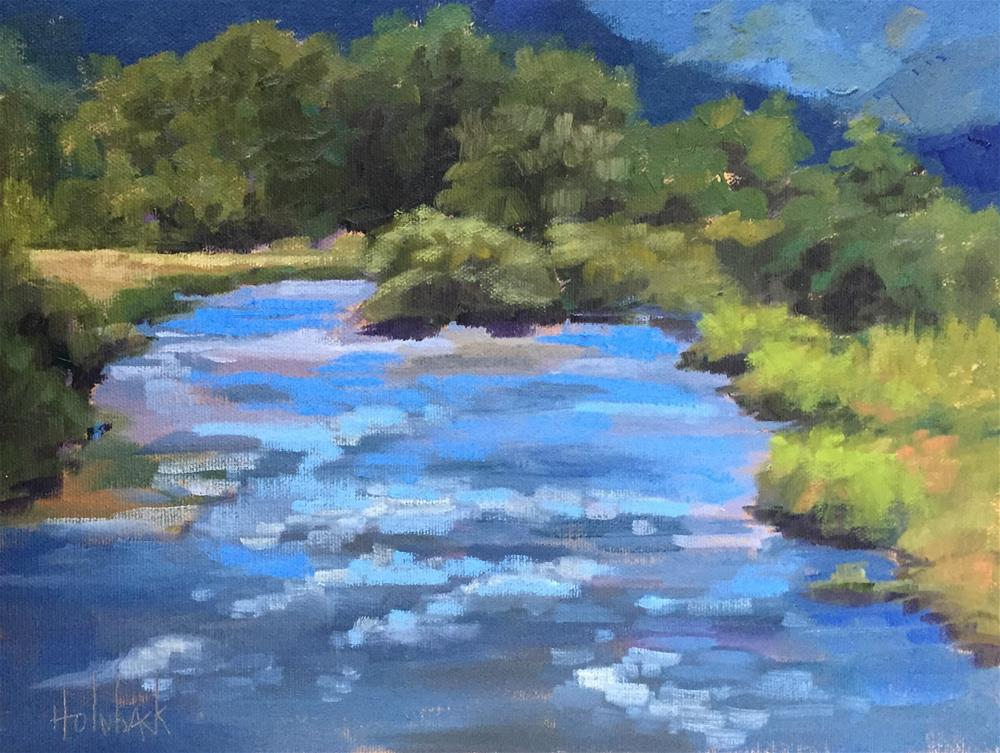 """Winding Its Way"" original fine art by Pam Holnback"