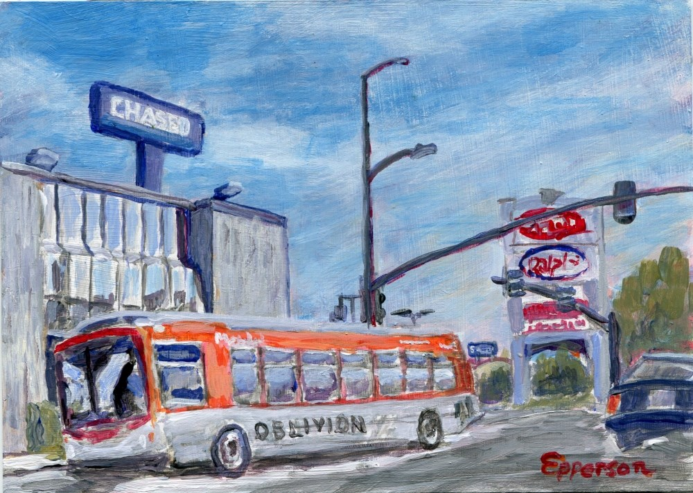 """Ventura Blvd at Topanga"" original fine art by Stanley Epperson"