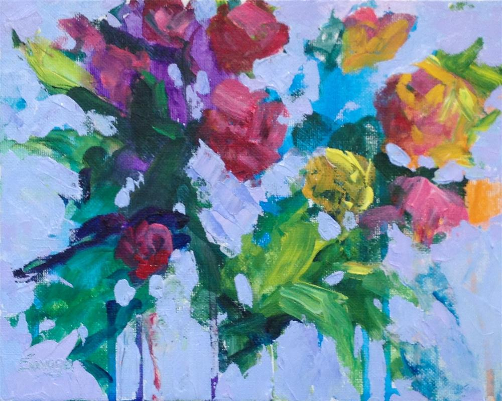 """Dripping Flowers"" original fine art by Marsha Savage"
