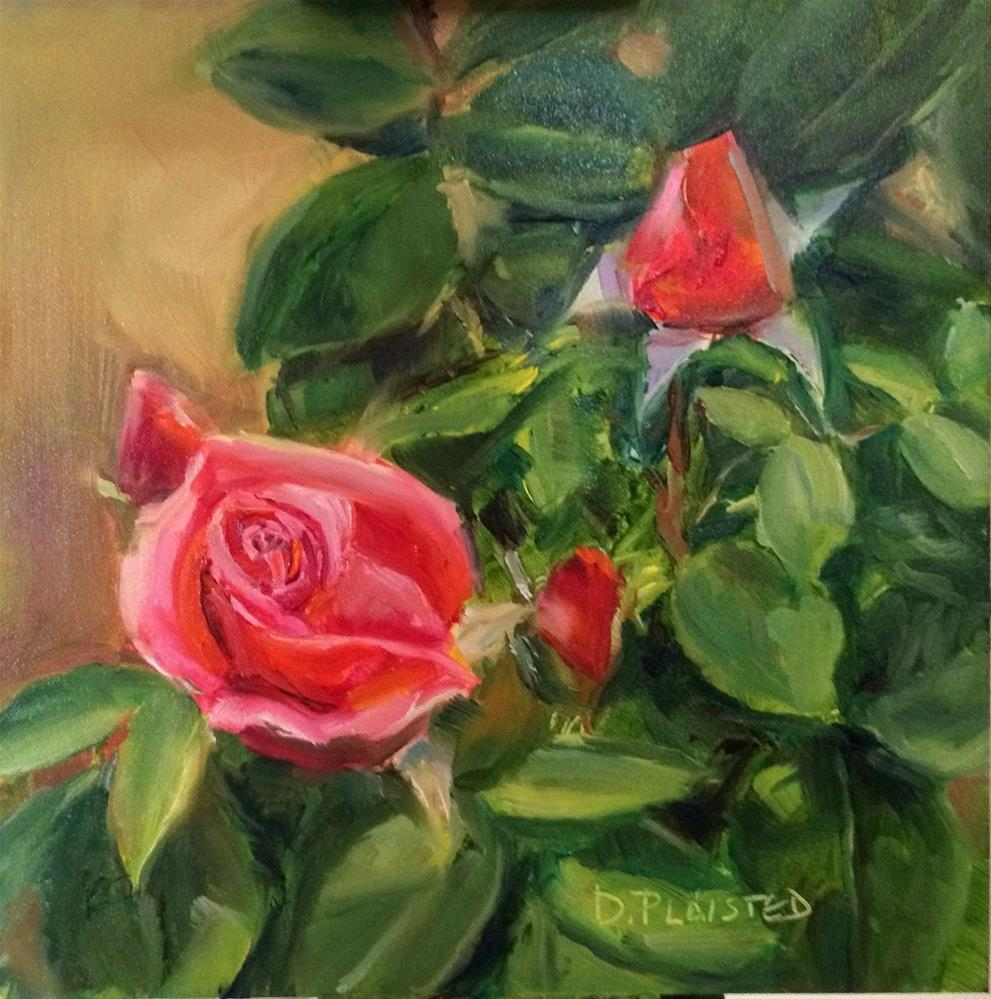 """Roses In France"" original fine art by Diane Plaisted"