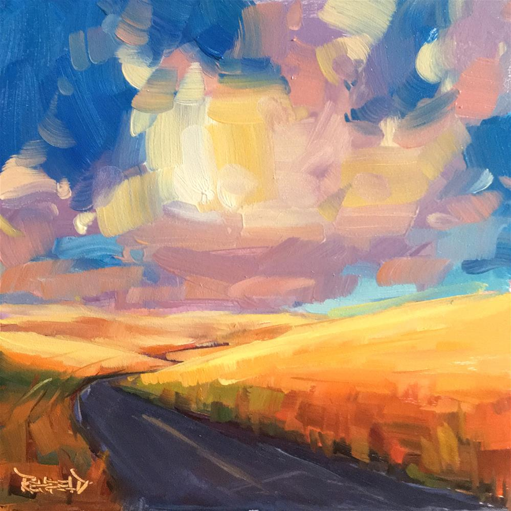 """Sunset Road"" original fine art by Cathleen Rehfeld"