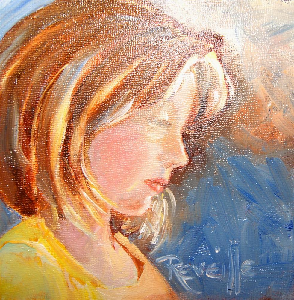 """Lauryn in canary and blue"" original fine art by Reveille Kennedy"