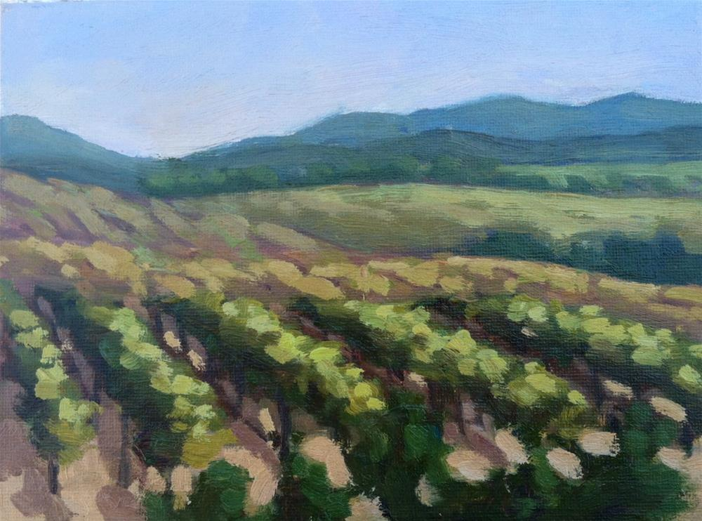 """Leoness Winery Fall"" original fine art by Mary Mulvihill"