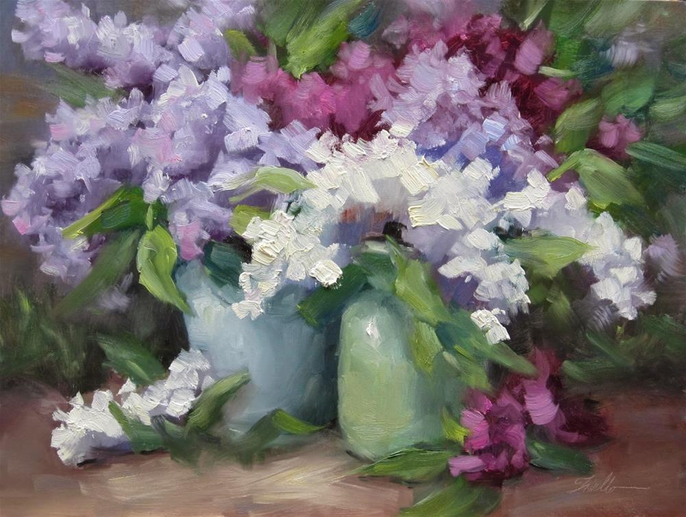 """Lilacs of France; Learning from Ovanes Berberian"" original fine art by Pat Fiorello"