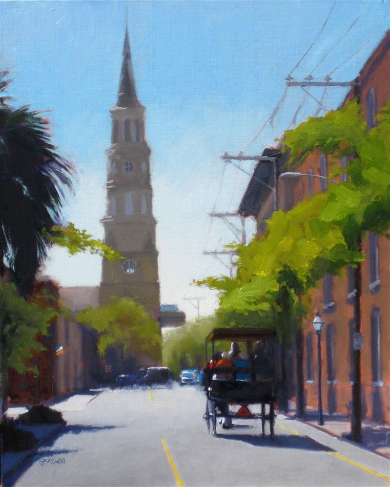 """Church Street afternoon"" original fine art by Dan Graziano"