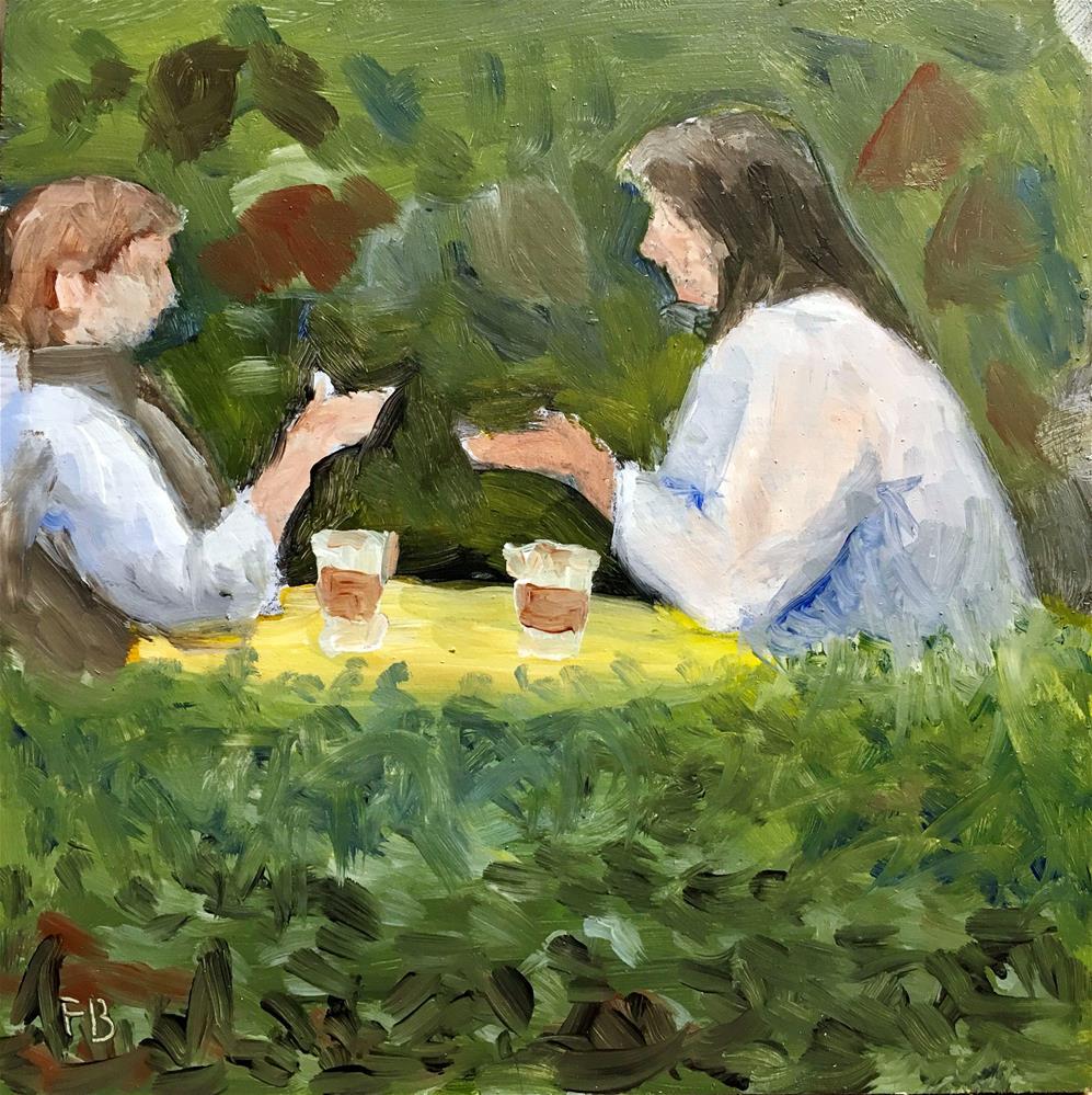 """117 Conversation"" original fine art by Fred Bell"