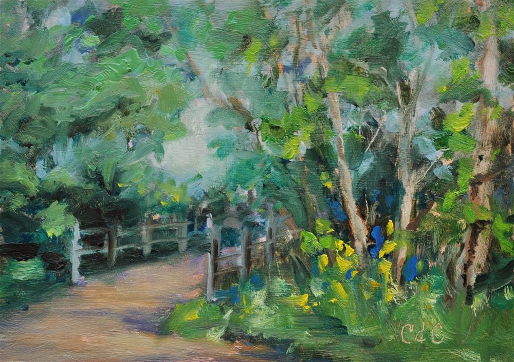 """Right At the Bridge"" original fine art by Catherine Crookston"