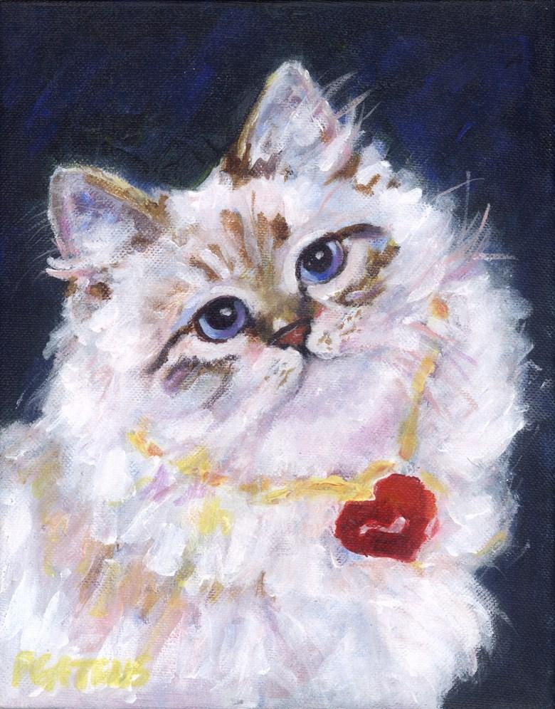 """""""Valentine Purr"""" original fine art by Pamela Gatens"""