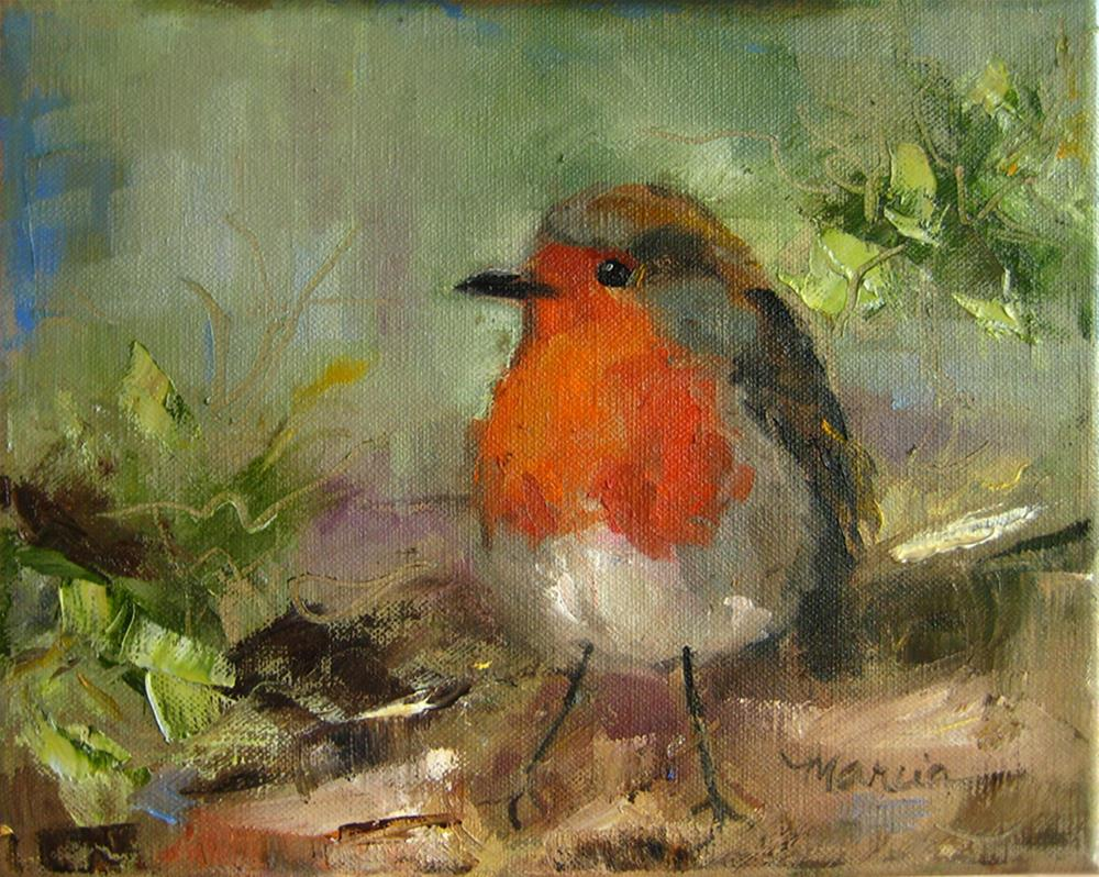 """Rockin Robin"" original fine art by Marcia Hodges"
