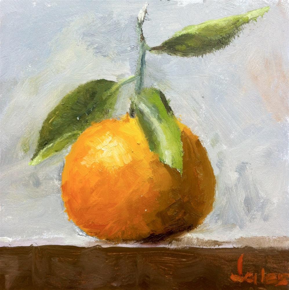 """Nikki's Orange"" original fine art by Richard Jones"