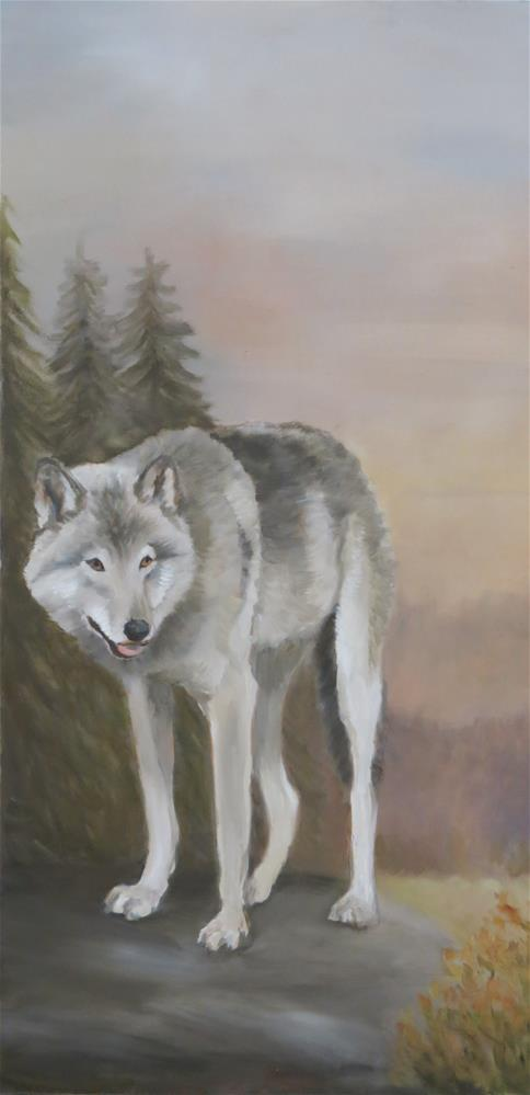 """Gray Wolf"" original fine art by Charlotte Yealey"