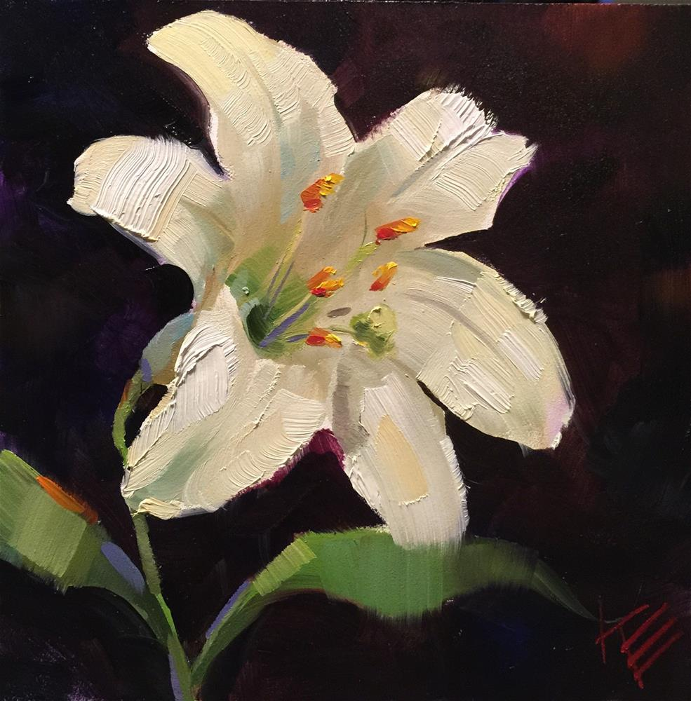 """Easter Lily"" original fine art by Krista Eaton"