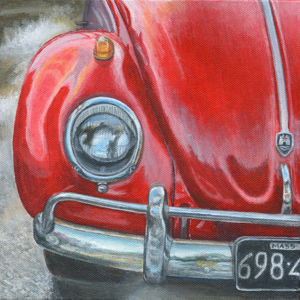 """Little Red"" original fine art by Debbie Shirley"