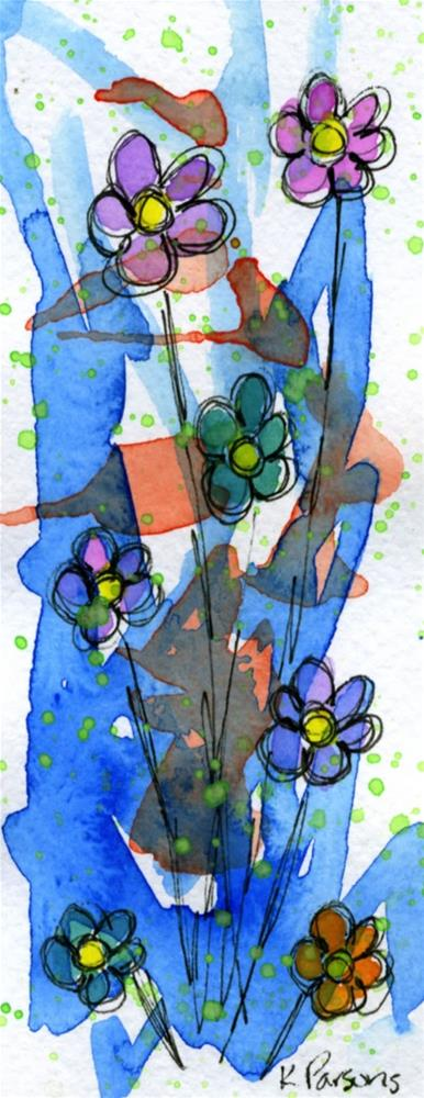 """Bursting Bouquet"" original fine art by Kali Parsons"