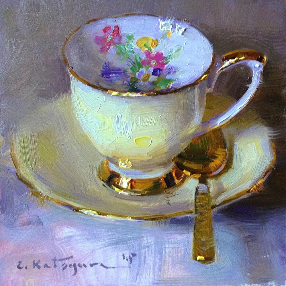 """Lemon Yellow"" original fine art by Elena Katsyura"