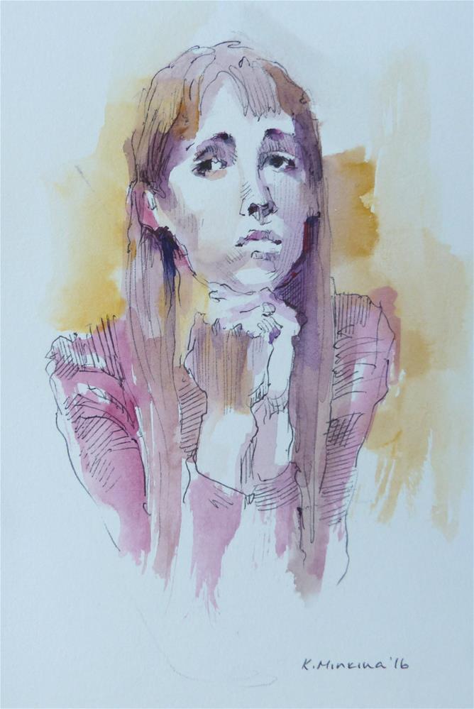 """sketchbook#25"" original fine art by Katya Minkina"