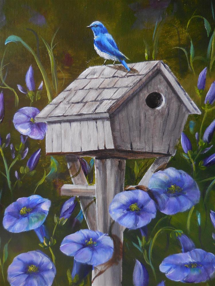 """Bluebird"" original fine art by Terri Nicholson"
