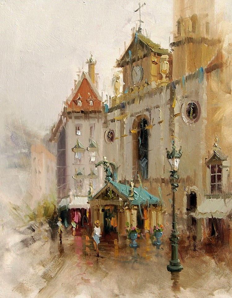 """Church of St Michael,Vienna "" original fine art by Mostafa Keyhani"
