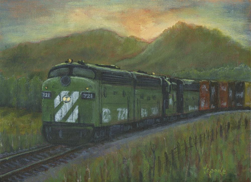 """BN 721 Last Light"" original fine art by T.C. Poole"