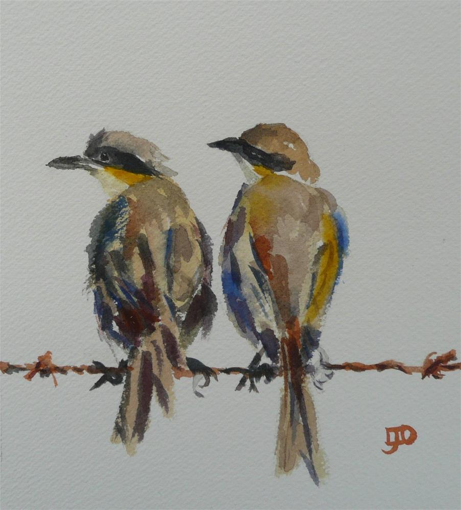 """Singing Honeyeaters"" original fine art by Leanne Owen"