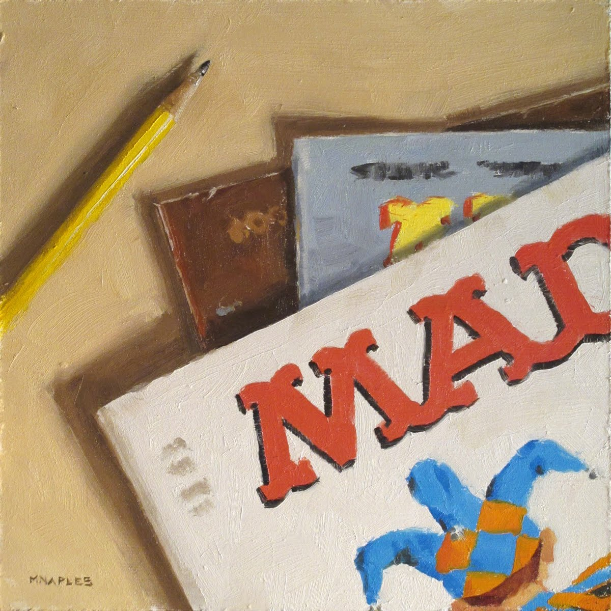 """Antique Mad Mags"" original fine art by Michael Naples"
