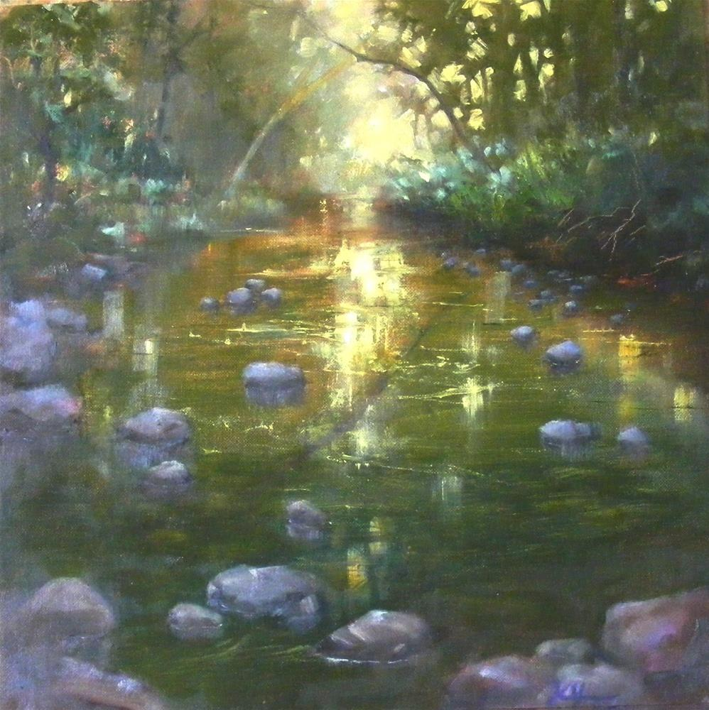 """Creekside whisper"" original fine art by Celine K.  Yong"