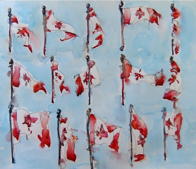 Happy Canada Day! original fine art by Nora MacPhail