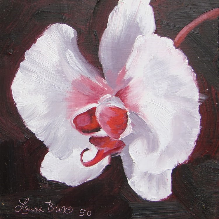 """Orchid Portrait II"" original fine art by Laura  Buxo"