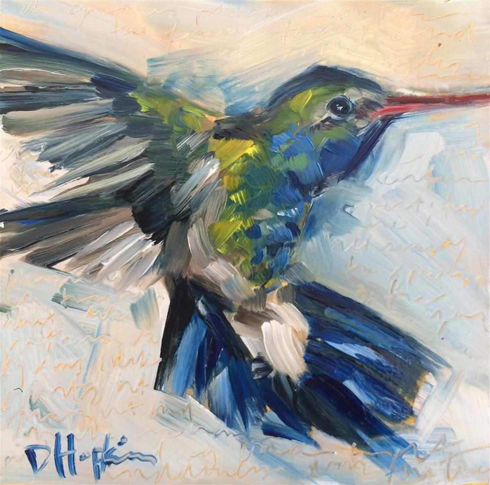 """Bright Blue"" original fine art by Denise Hopkins"