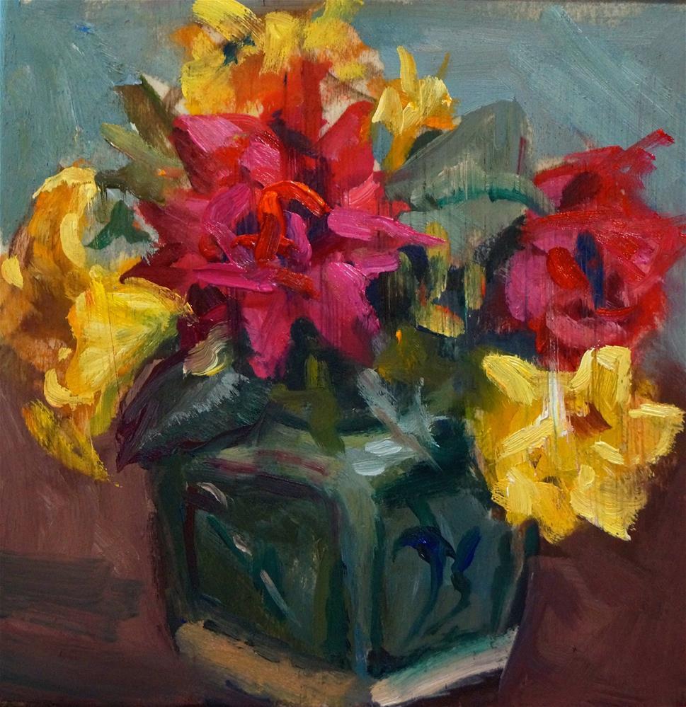 """""""Little Bouquet"""" original fine art by Linda Dunbar"""