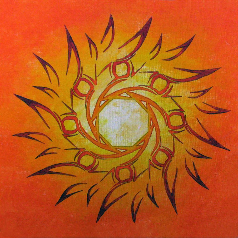 """""""Fire Sun 2"""" original fine art by Nan Johnson"""