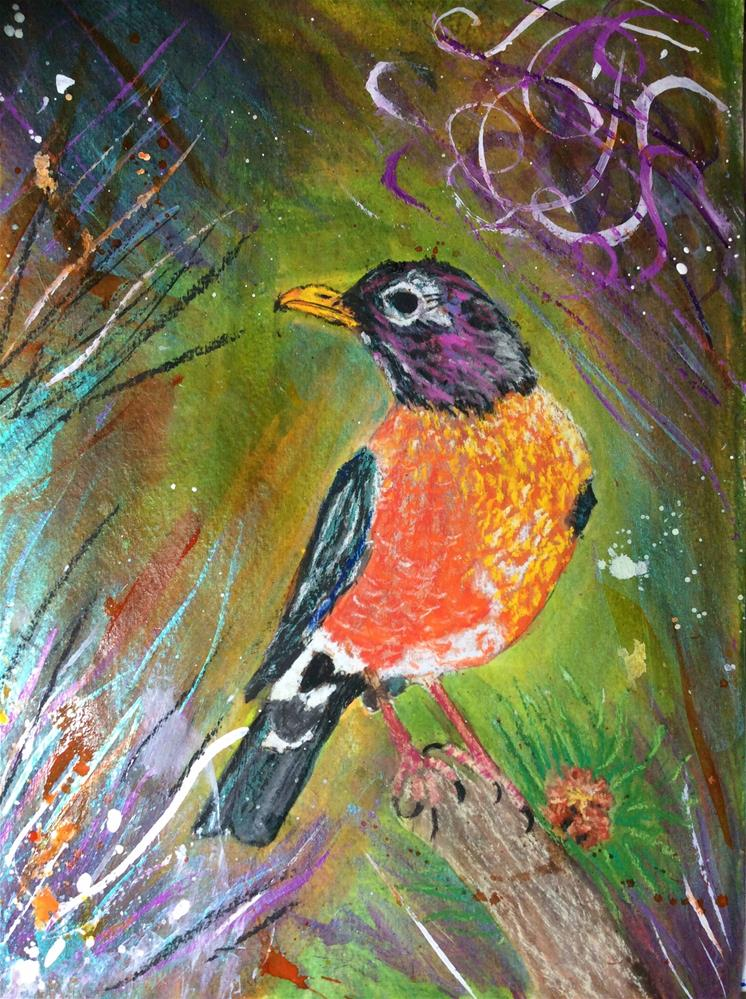 """Robin"" original fine art by Sharon Cullen"