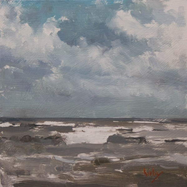 """Waves and Storm"" original fine art by Randall Cogburn"