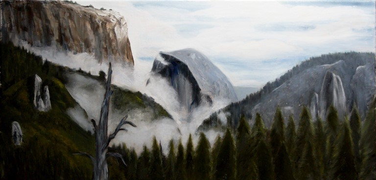 """ElCapitan and HalfDome "" original fine art by Mary Datum"