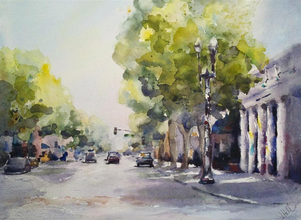 """Passing Through Tustin, Ca"" original fine art by Julie Hill"
