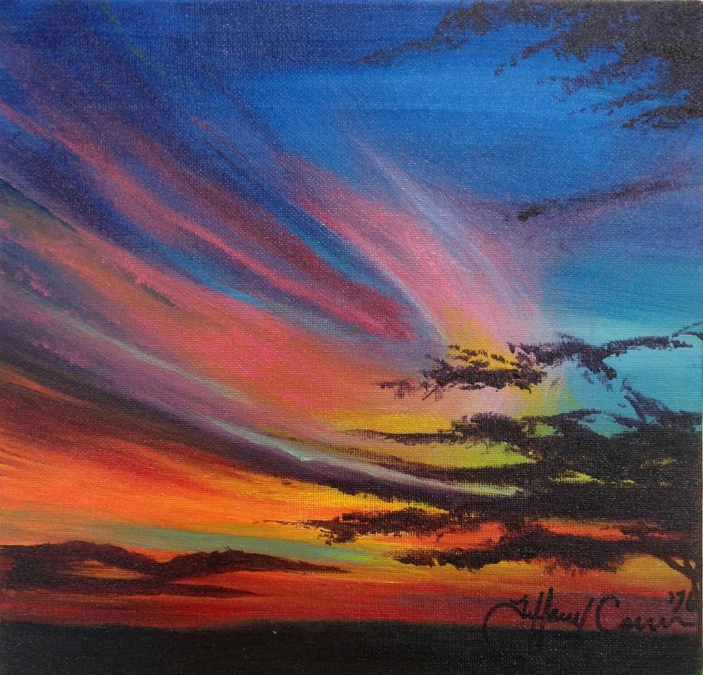 """Oklahoma Skies"" original fine art by Tiffany Conn"